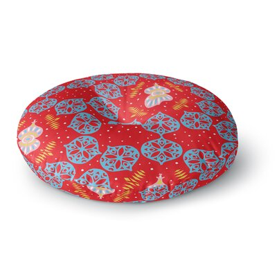 Miranda Mol Frosted Red Round Floor Pillow Size: 23 x 23