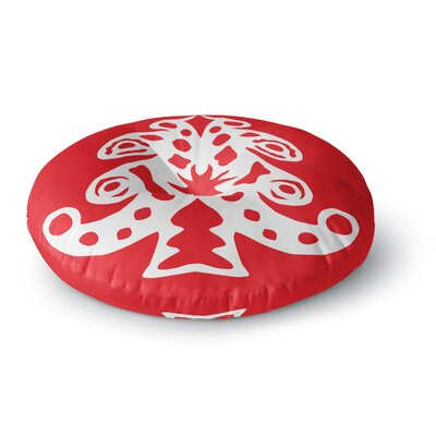 Miranda Mol Noble Pine Red Holiday Round Floor Pillow Size: 23 x 23
