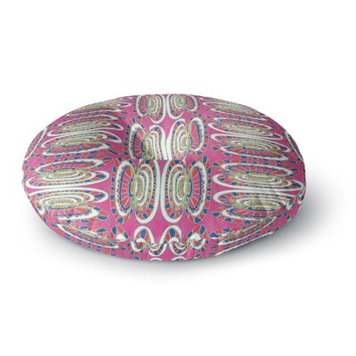 Miranda Mol Bohemian Wild Abstract Round Floor Pillow Size: 26 x 26