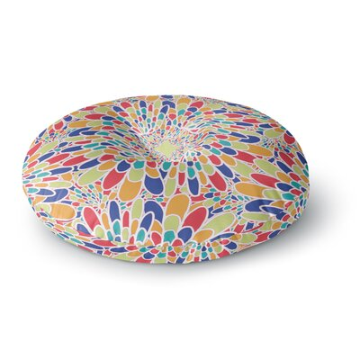 Miranda Mol Flourishing Blue Geometric Round Floor Pillow Size: 23 x 23