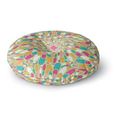 Miranda Mol Flourishing Green Round Floor Pillow Size: 23 x 23