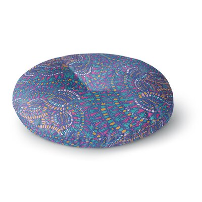 Miranda Mol Kaleidoscopic Blue Geometric Round Floor Pillow Size: 23 x 23