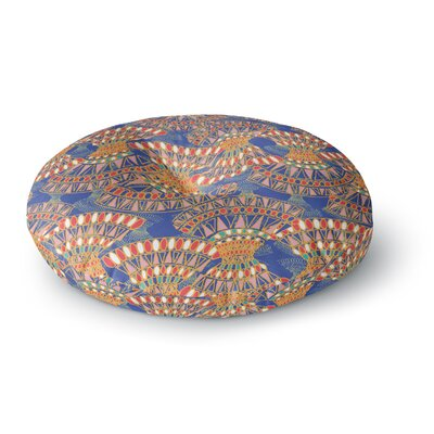 Miranda Mol Energy Abstract Round Floor Pillow Size: 26 x 26