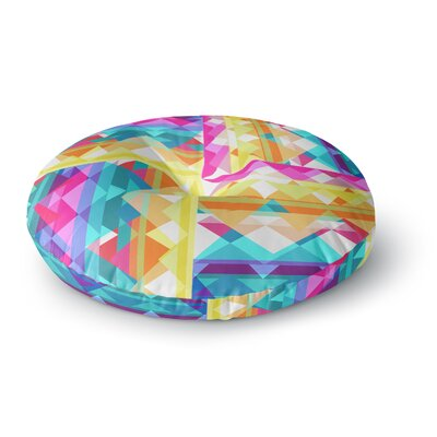 Miranda Mol Triangle Checker Rainbow Round Floor Pillow Size: 23 x 23