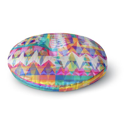 Miranda Mol Triangle Collage Geometric Round Floor Pillow Size: 26 x 26