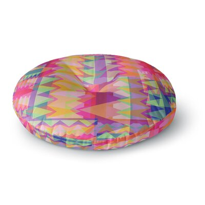 Miranda Mol Triangle Fun Round Floor Pillow Size: 26 x 26