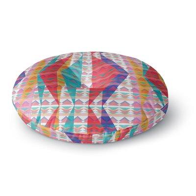 Miranda Mol Triangle Illusion Geometric Round Floor Pillow Size: 26 x 26
