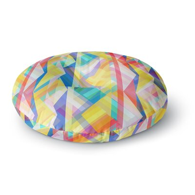 Miranda Mol Triangle Rhythm Geometric Round Floor Pillow Size: 26 x 26