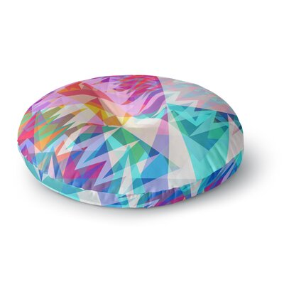 Miranda Mol Triangle Feast Abstract Geometric Round Floor Pillow Size: 23 x 23