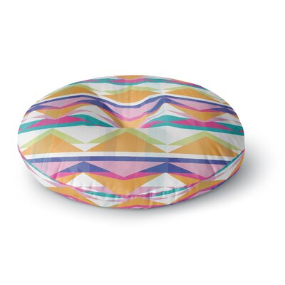 Miranda Mol Triangle Waves Geometric Round Floor Pillow Size: 26 x 26
