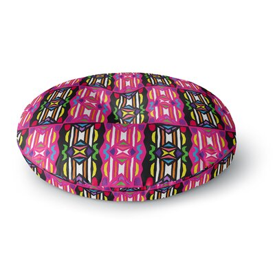 Miranda Mol Lets Party Round Floor Pillow Size: 26 x 26