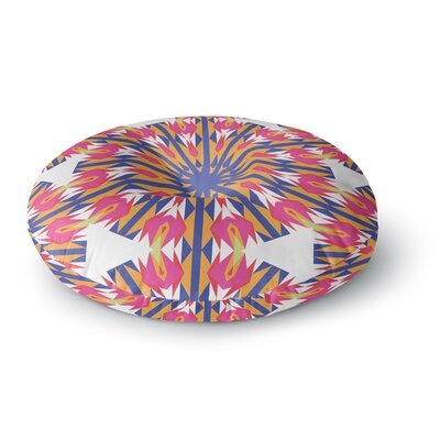 Miranda Mol Modern Dutch Tulips  Round Floor Pillow Size: 23 x 23