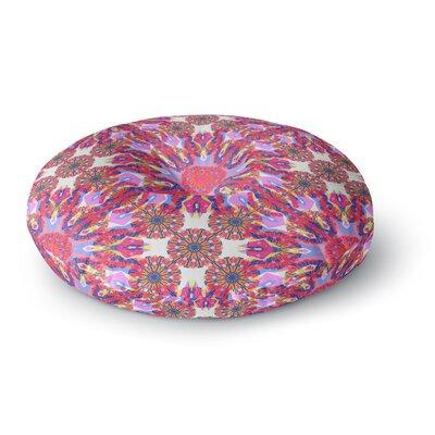 Miranda Mol Kaleidoscopic Floral Round Floor Pillow Size: 23 x 23