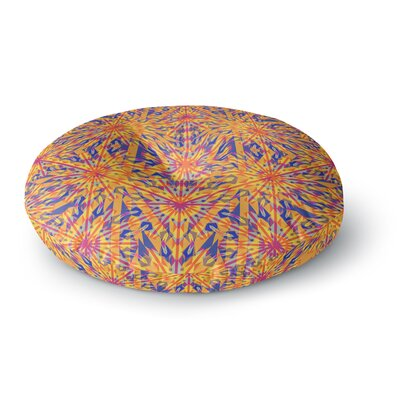 Miranda Mol Azulejo Orange Round Floor Pillow Size: 23 x 23