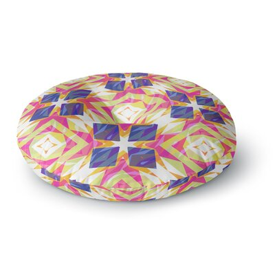 Miranda Mol Dancing Tiles Round Floor Pillow Size: 23 x 23