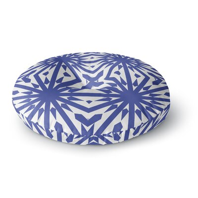 Miranda Mol Delftsch Blue Tulips Floral Round Floor Pillow Size: 26 x 26