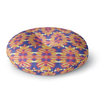 Miranda Mol Ethnic Border Round Floor Pillow Size: 26 x 26