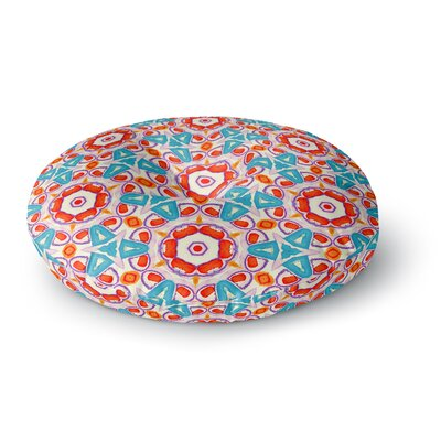 Miranda Mol Kaleidoscopic Circles Round Floor Pillow Size: 26 x 26