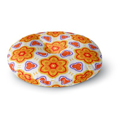 Miranda Mol Kaleidoscopic Flowers Floral Round Floor Pillow Size: 26 x 26