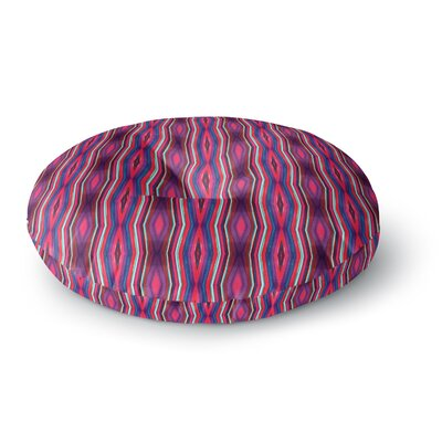Miranda Mol Watercolor Zigzag Round Floor Pillow Size: 26 x 26