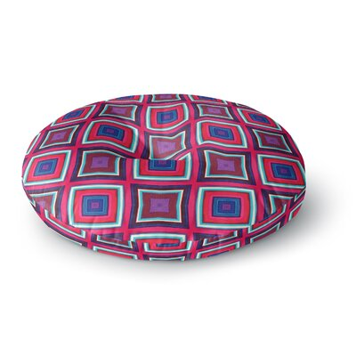 Miranda Mol Watercolor Blocks Checker Round Floor Pillow Size: 23 x 23
