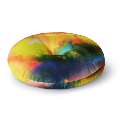 Mimulux Patricia No Good Vibrations Abstract Round Floor Pillow Size: 23 x 23
