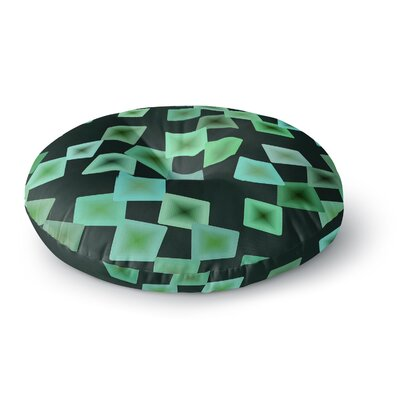Mimulux Patricia No Seaglass on the Shore Digital Round Floor Pillow Size: 26 x 26