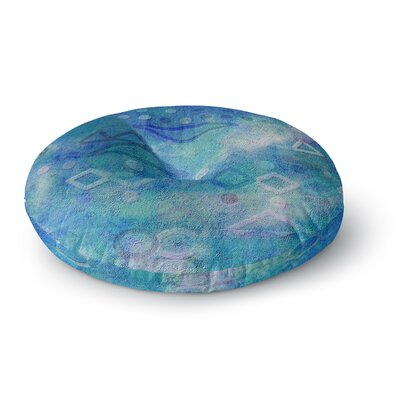 Mimulux Patricia No Hieroglyphic Digital Abstract Round Floor Pillow Size: 26 x 26