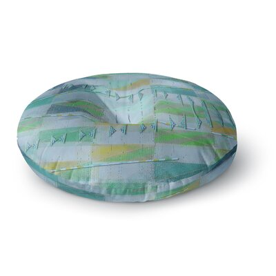 Mimulux Patricia No A Light Summer Rain Digital Round Floor Pillow Size: 26 x 26