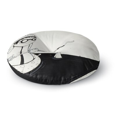 Matthew Reid Number 5 Round Floor Pillow Size: 23 x 23