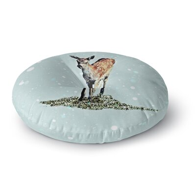 Monika Strigel Fawn Round Floor Pillow Size: 26 x 26