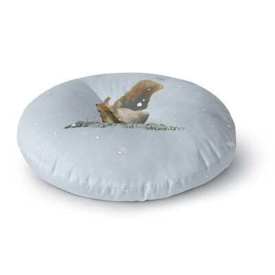 Monika Strigel Squirrel Round Floor Pillow Size: 23 x 23