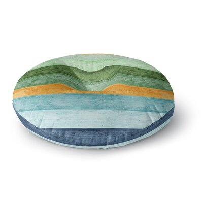 Monika Strigel Beach Wood Blue Round Floor Pillow Size: 26 x 26
