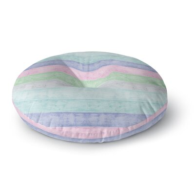 Monika Strigel Beach Wood Pastel Round Floor Pillow Size: 23 x 23