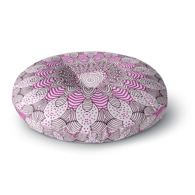 Monika Strigel Dots and Stripes Pink Round Floor Pillow Size: 26 x 26