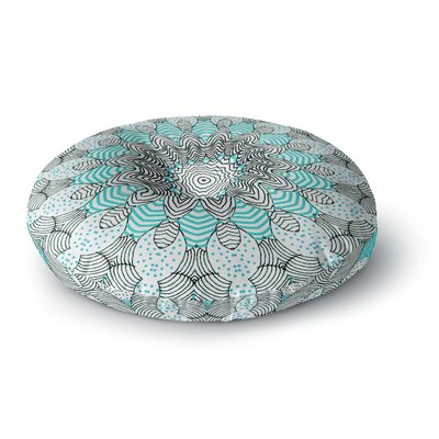 Monika Strigel Dots and Stripes Mint Round Floor Pillow Size: 26 x 26