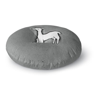 Monika Strigel Llama One Round Floor Pillow Size: 26 x 26