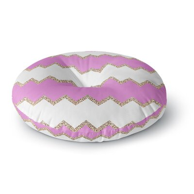 Monika Strigel Avalon Pink Chevron Rose Round Floor Pillow Size: 23 x 23