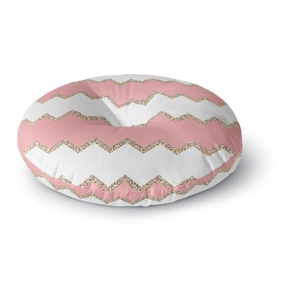 Monika Strigel Avalon Coral Chevron Blush Round Floor Pillow Size: 23 x 23