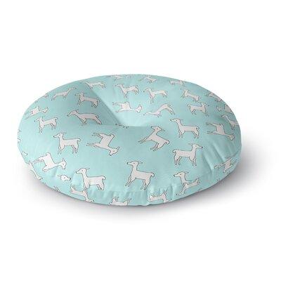 Monika Strigel Baby Llama Multi Round Floor Pillow Size: 26 x 26