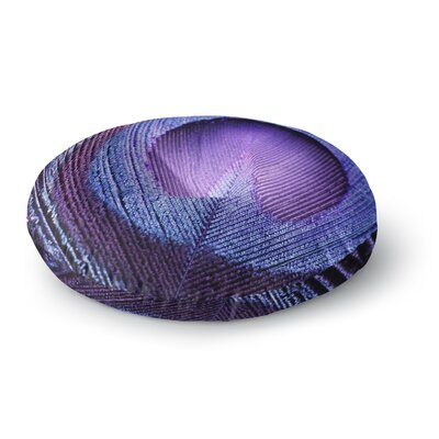 Monika Strigel Purple Peacock Round Floor Pillow Size: 26 x 26