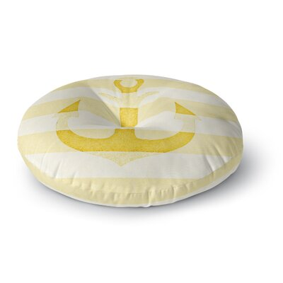 Monika Strigel Stone Vintage Anchor Yellow Mustard Round Floor Pillow Size: 23 x 23