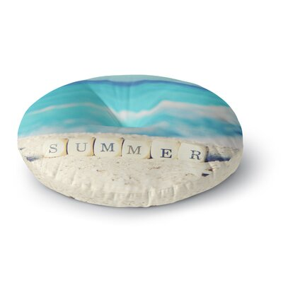 Monika Strigel Summer at the Beach Coastal Round Floor Pillow Size: 23 x 23