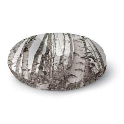 Monika Strigel Birchwood Forest Round Floor Pillow Size: 23 x 23