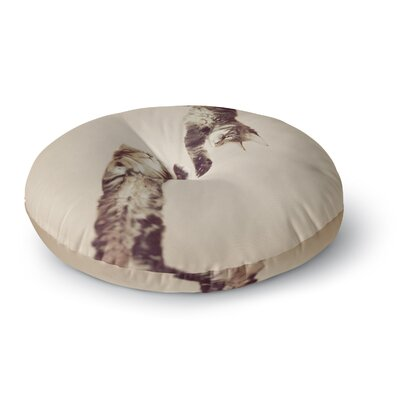 Monika Strigel Upside Down Cats Round Floor Pillow Size: 23 x 23