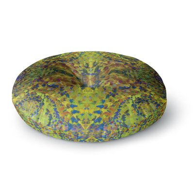 Nikposium Yellow Jacket Abstract Round Floor Pillow Size: 26 x 26