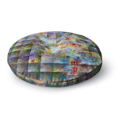 Michael Sussna Yggdrasil Rainbow Abstract Round Floor Pillow Size: 26 x 26