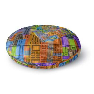 Michael Sussna Tile Rep Abstract Round Floor Pillow Size: 23 x 23