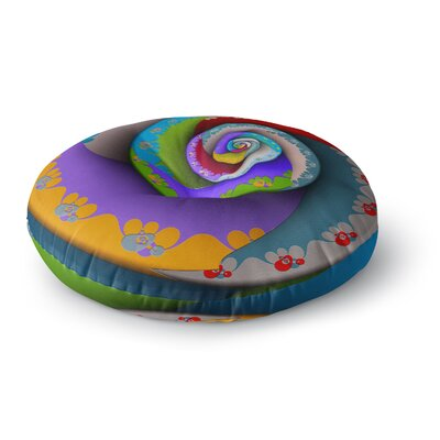 Michael Sussna Flor Essence Rainbow Spiral Round Floor Pillow Size: 26 x 26