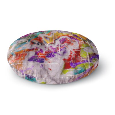 Michael Sussna Quantum Foam Rainbow Geometric Round Floor Pillow Size: 26 x 26